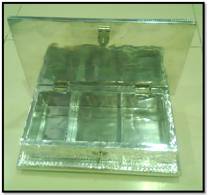 Open Artistic Metal Box - for Dry Fruits